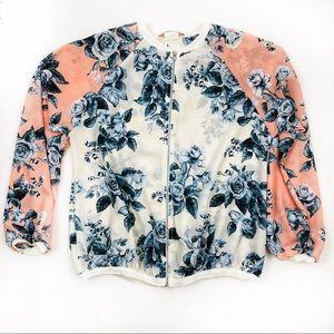 SJS sheer floral jacket sz S